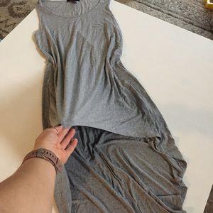 High low gray tshirt dress